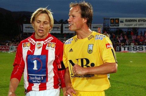 GAMLE VENNER: Steinar Nilsen og Runar Berg har vært gode venner helt siden sistnevnte bodde hos familien Nilsen da han var TIL-spiller i 1992-seosngen.