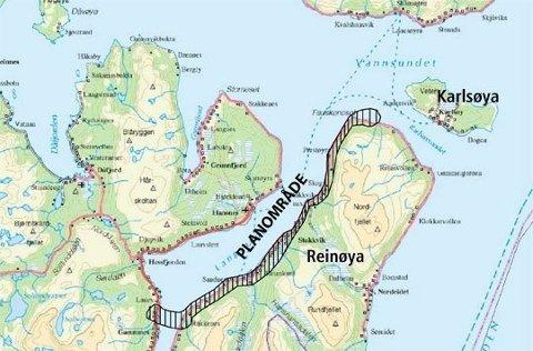 STORT PROSJEKT:   Den planlagte forbindelsen går over Langsund til Reinøya, og inkluderer en opprustet veg nordover Reinøya.