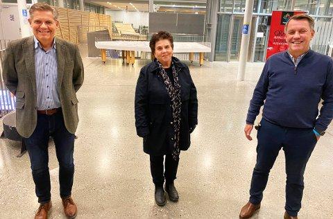 - STERKE SIGNALER: Direktør Tor Lægreid og styreleder Tove Karoline Knutsen i Arktisk Filharmoni håper sammen med ordfører Gunnar Wilhelmsen på flertall for Aps forslag om statlig finansiering og flere millioner til driften av orkesteret.