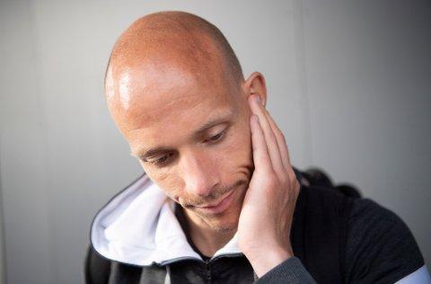 TUNGT: Ruben Kristiansen ble selv hengt ut i sosiale medier som nachspiel-gjest, selv om han ikke var der. 33-åringen mener Brann nå henter fart etter skandalen og er på opptur i bunnstriden.