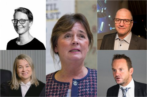 BLE VRAKET: Til UiT-styret. Oppe fra venstre: Kjersti Tønnessen Busch, Cecilie Daae, Odd Roger Enoksen, Susann Funderud Skogvang og Geir Ove Ystmark