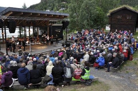 AMFIET: Amfiet på Valdres folkemuseum har hittil mulighet for 200 publikummere under Gåte-konserten fredag 16. juli. ARKIVBILDE
