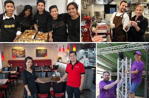SMILEFJES: Globus kafé, Heim Gjøvik, Jako Sushi og Kaffka var blant dem som fikk smilefjes etter tilsyn i august og september.