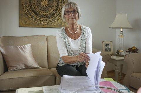 OPPGITT: Gunvor Yttervik Holmgren er langt fra imponert over kommunalsjef Else Karin Myhrene kommentar til artikkelen Holmgren hadde på trykk i forrige uke. FOTO: VIVI RIAN