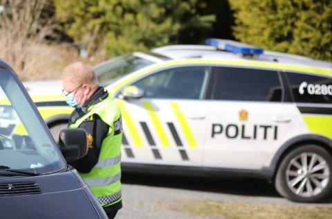 Fra fredagens kontroll på Sånerveien.