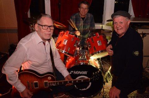 SPILLER OPP IGJEN: Fra venstre Vidar Dybendal, Arild Nygård og Gunnar Fjeldseth som trår til med jazz og blues og er klare for oppdrag.