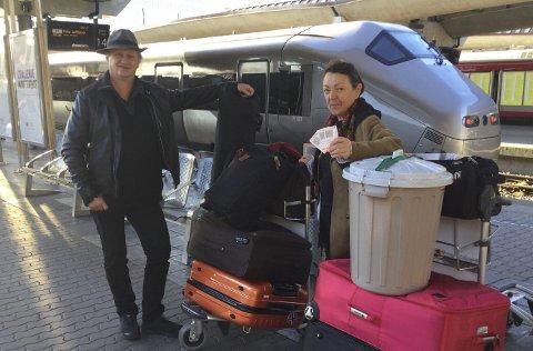 Tor Arne Ursin og Geddy Aniksdal er i USA sammen med Lars Vik (ikke på bildet). Foto: Privat