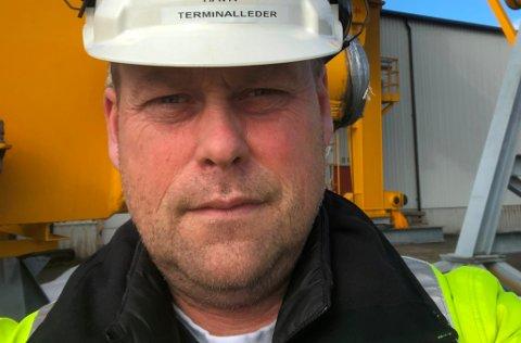 – Vi er 7 medlemmer i Fagforbundet i Grenland Havn som vil bli tatt ut i en eventuell streik fra 27. mai, sier plasstillitsvalgt Ove Gunleksen i Grenland Havn. Han jobber som terminalleder ved Skien Havneterminal.