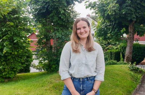"""HJEMME: Ingrid G. Mehammer (21) er hjemme på sommerferie. Hun brukere nå sommeren på et kurs i """"Crime, Data, and Ethics: The Applicaton of Computational Research Methods in Criminology""""."""
