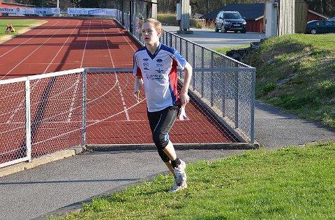 TRO TIL: Ole Marius Glomsrud (13) tror til fra start og sikret seg en fin andreplass i klassen etter et fint løp.