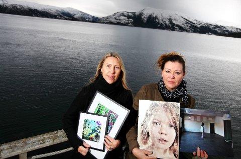 LOKALT: Hilde Sletten og Anita Ravn har helt forskjellige kunstneriske uttrykk, men har det til felles at de finner nesten all sin inspirasjon lokalt i Hemnes. Begge damene har forøvrig sine aner fra Rana, men har bodd i Hemnes i mange år.