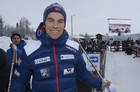 Stortrives i OL: Ole Martin Storlien fra Veldre har en sentral rolle for Madshus i OL. 29-åringen sørger for at skiprodusentens løpere har en best mulig ski-park.