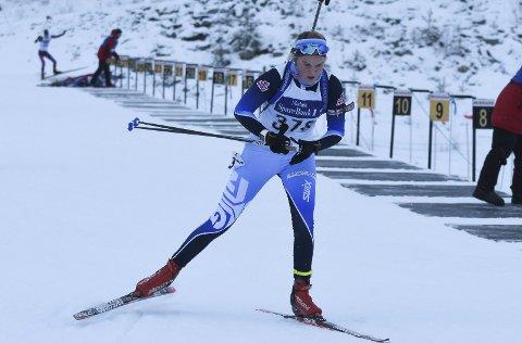 STERK: Tuva Aas Stræte viste styrke i mønstringsrennene på Lygna i helgen.