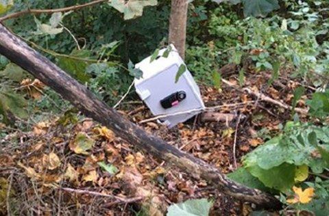 GA OPP: Safen ble forlatt uåpnet, men tyvene fikk med seg bunadssølv for store verdier fra Ringerike folkehøgskole.