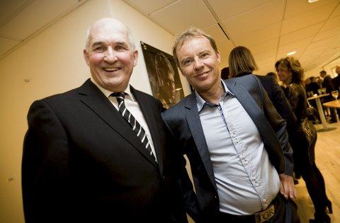 SPILLERSAMLING: Lørdag er alle spillere med toppseriekamper for LSK invitert til Åråsen. Her Tom Lund (t.v.) og Tom Gulbrandsen.