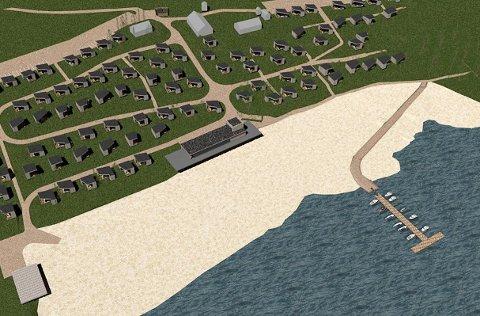 FÆRRE BÅTPLASSER: Samme antall hytter, men langt færre båtplasser ved planlagte Nes Strandhager.Ill.: Rak Arkitektur