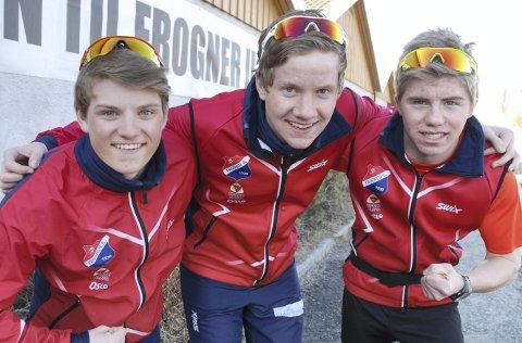 FARVEL TIL FROGNER: Herman Martens Meyer, Amund Hoel og Ivar André Ryttervold (fra venstre). Bildet er fra 2013. Foto: Jon Wiik