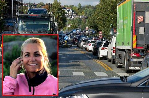 KJØR SAKTE-AKSJON: Cecilie Lyngby vil arrangere kjør sakte-aksjon på Romerike. Bomaksjonen i Drammen tirsdag skapte kaos.