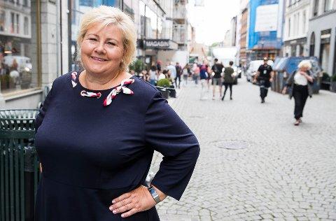 VIL ENDRE: Statsminister Erna Solberg er ikke fornøyd med at en av to i offentlige utvalg kommer fra Oslo og Akershus og ønsker endring.
