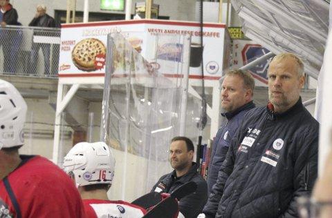 Bygger opp: Trener Kenneth Larsen og daglig leder Mats Wibe-Lund (t.v.) gleder seg til Frisk-samarbeid. Foto: Per Morten Sødal