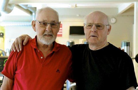 Spreke: 83-åringene Nils Telnes (F.v.) og Gudbrand Tandberg. Foto: Lotte Brodahl