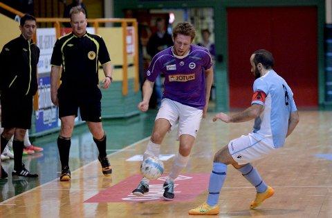 Imponerer: Per Martin Haugen og Sandefjord Futsal topper fortsatt eliteserietabellen.