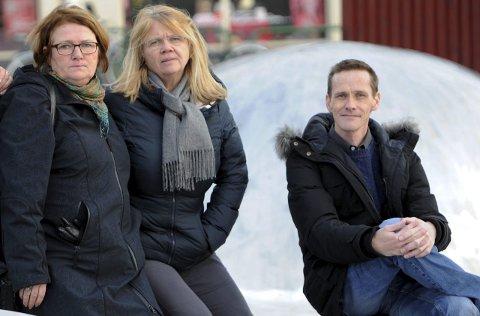Blant klagerne: Solveig Steen-Firing (f.v.), Hilde Ellingsen og Rune H. Johannessen.