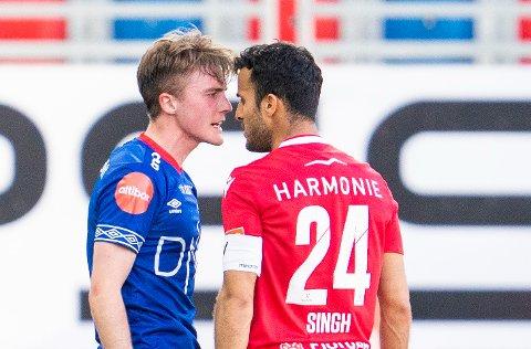 TEMPERATUR: De ble til tider ampert forrige gang Sandefjord møtte Vålerenga. På søndag kommer Singhs tidligere lag på besøk til Release Arena.