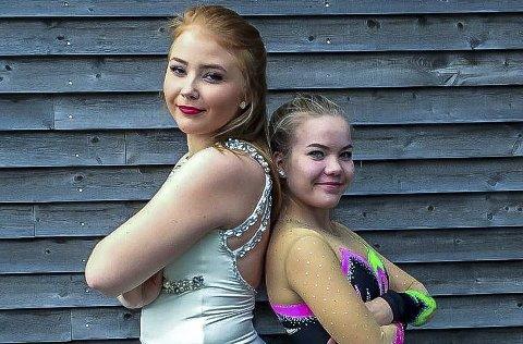 BARE NESTEN: Malin Elisabeth Normann (t.v.) og Juliane Åsberg klarte nesten kravet til NM/LM.