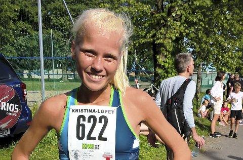 Løp fort: Julie Larsen løp fort og vant i Strømstad. Foto: privat
