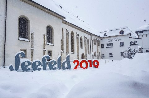 Seefeld, Østerrike 20190109. Ski-VM-byen Seefeld er snart nedsnødd. Foto: Laura Zobernig / Olympiaregion Seefeld / NTB scanpix