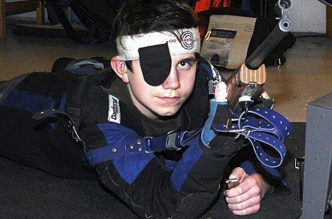 Var best: SkiptvetS Alexander Aaslie (14) ledet etter hovedskyting og sikret seg seieren i eldre rekrutt fra skive 1. ARKIVFOTO