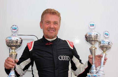 POKALENES MANN: Olav Rygge vant to av tre finaler på Rudskogen i helgen og leder NM klart før de to siste løpshelgene.