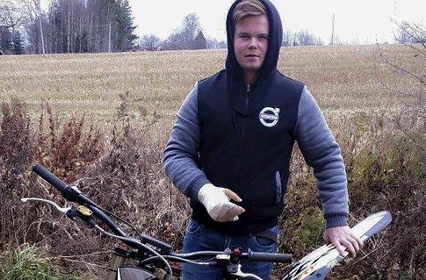 SKREMT ETTER HENDELSEN: Dennis Ralger (16), tenker mer over hva som skjer i trafikken etter at han krasjet.