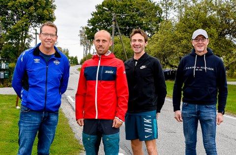 INVITERER: Geir Arne Johannessen (f.v.), Marius Borger, Roar Tomter og Håvard Lysaker inviterer til Slitusprinten søndag 24. oktober.