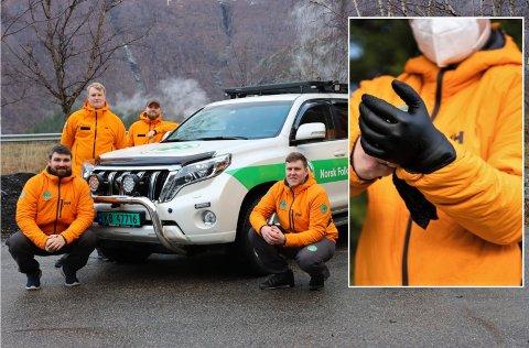 VAR BUDDE: Norsk Folkehjelp i Årdal var klare til å hjelpa med uttransport då det vart oppdaga smitte på Fondsbu 1000 meter over havet.