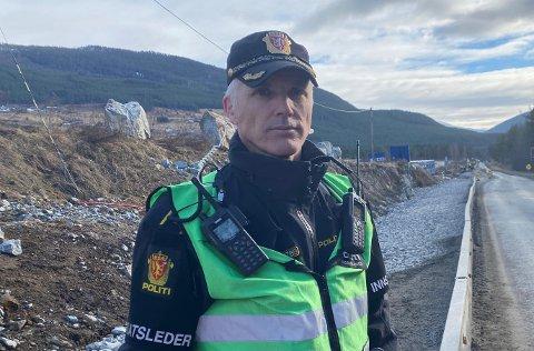 FLEIRE KONTROLLAR: Fagleiar for politipatrulje ved Sogndal lensmannskontor, Svein Inge Harberg, lovar fleire kontrollar i tida framover.