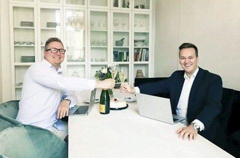 NYTT FIRMA: Christian Sanni (t.h.) har startet selskapet Excite Agency AS med partner Andreas Nordanger.