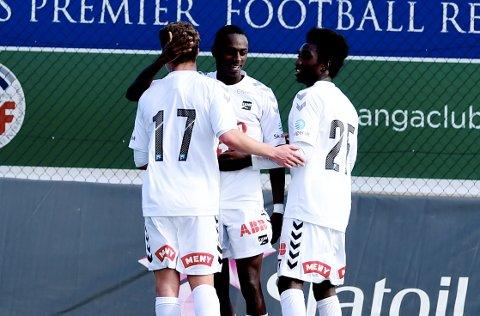 MÅL: Bilal Njie satte inn 1-0 for Odd.