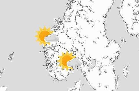 PENT VÆR: Meteorologen mener det blir mye sol i helgen.