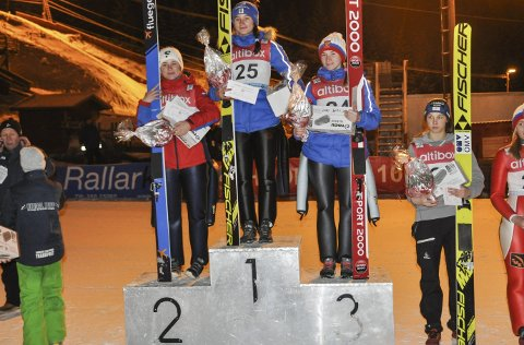 Pallen på fredag: Mariia Iakovleva, Lidiia Iakovleva og Anna Shpyneva endte på pallen på fredagens renn.