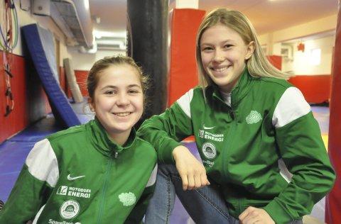 PÅ REISEFOT: Anne Svarstad og Kristine Haugen reiser første gang til USA mandag formiddag.