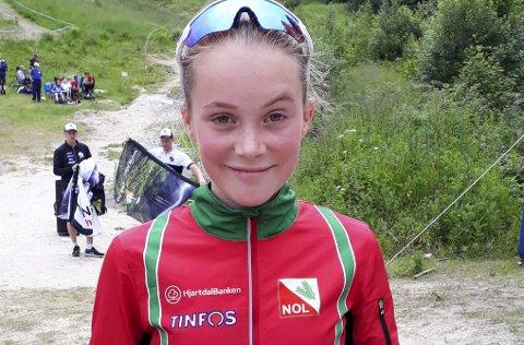 Gode resultater: Synne Sandven gjør det bra på løpene hun deltar i, og i helga ble det gode resultater på hun.
