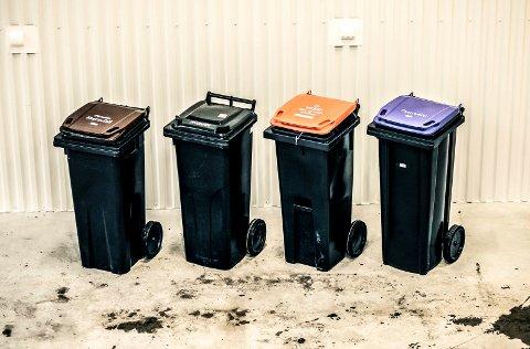 De nye søppeldunkene.