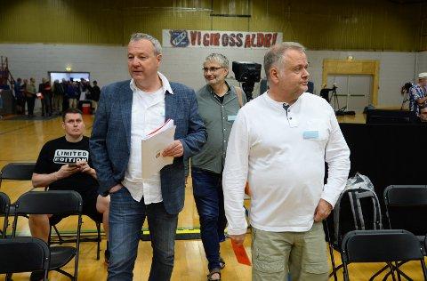 Eilif Odde, Sverre Hoem og Arild Myhre var delegatene fra Kristiansund Sjakklubb som hadde stemmerett på kongressen.