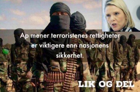 LAVMÅL: At justisminister Sylvi Listhaug (Frp) hevder at Ap er mer opptatt av terroristers rettigheter enn nasjonens sikkerhet er et lavmål i debatten, mener Kerim Jaber.