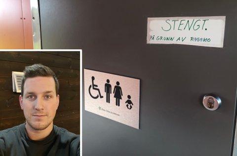 UBEHAGELIG OPPLEVELSE: Brian Randrups tre år gamle datter ble innelåst i halvannen time. Nå har kommunen stengt toalettet i Lenaparken inntil videre.