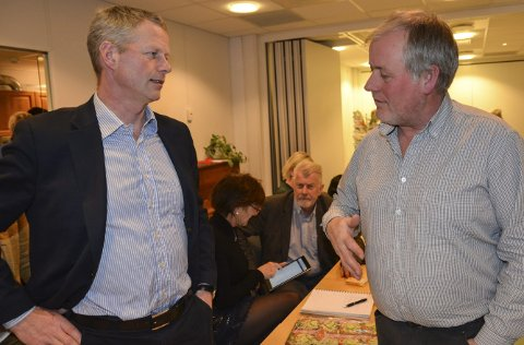 Knut Aall og Morten Foss: Har den samme politikken på mange områder, men er ikke bestevenner. Arkivfoto