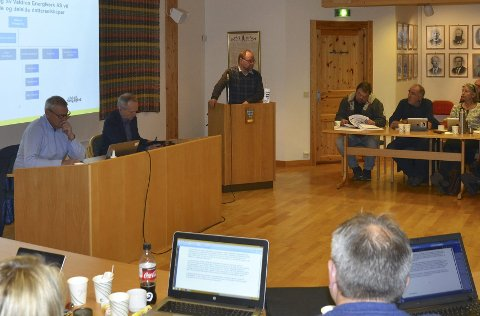 Debatt: Magne Egil Mjøs (Sp) på talarstolen i saka om Valdres Energiverk.