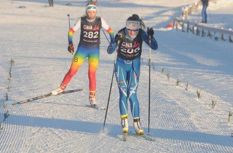 Sjuendeplass: Eivor Melbybråten (t.h) gikk inn til en sterk sjuendeplass i norgescupen på fem kilometer friteknikk på Åsen i Akershus søndag.